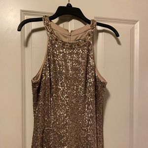 Gold sequin ball gown